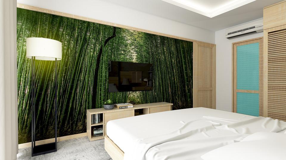 Sypialnia, motywy roślinne