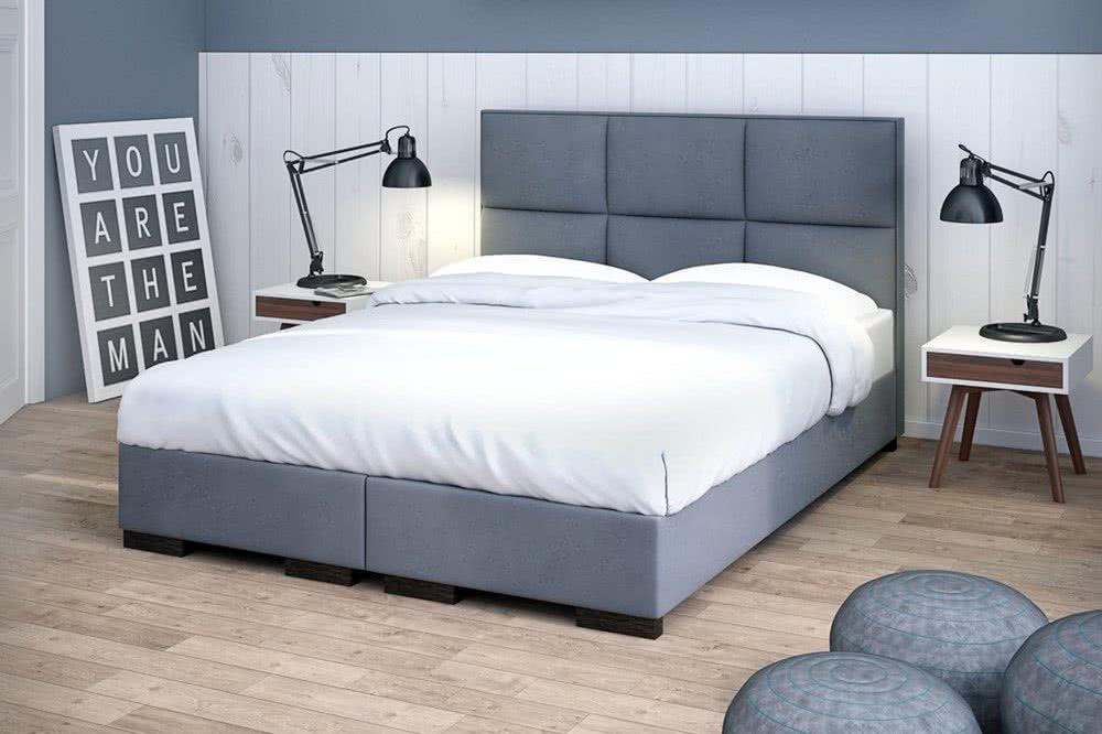 Szare łóżko Massimo Plus