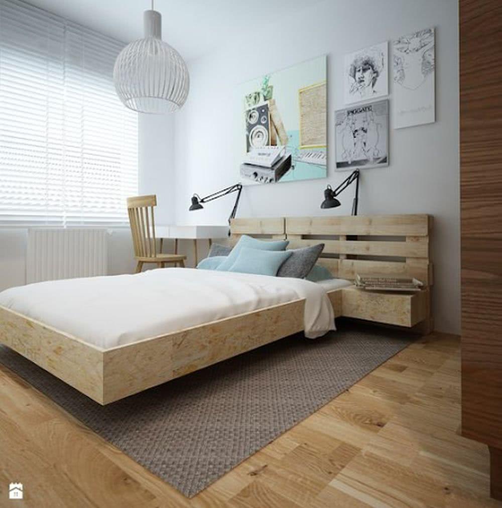 Sypialnia wstylu skandynawskim