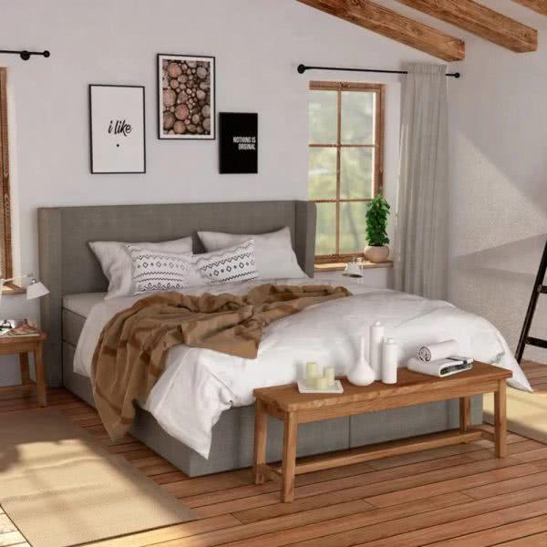 Łóżko Vintage Hilding kontynentalne