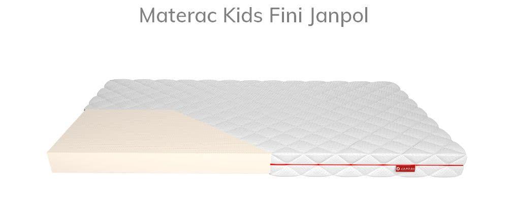 Materac Janpol Kids Fini zpianki lateksowej