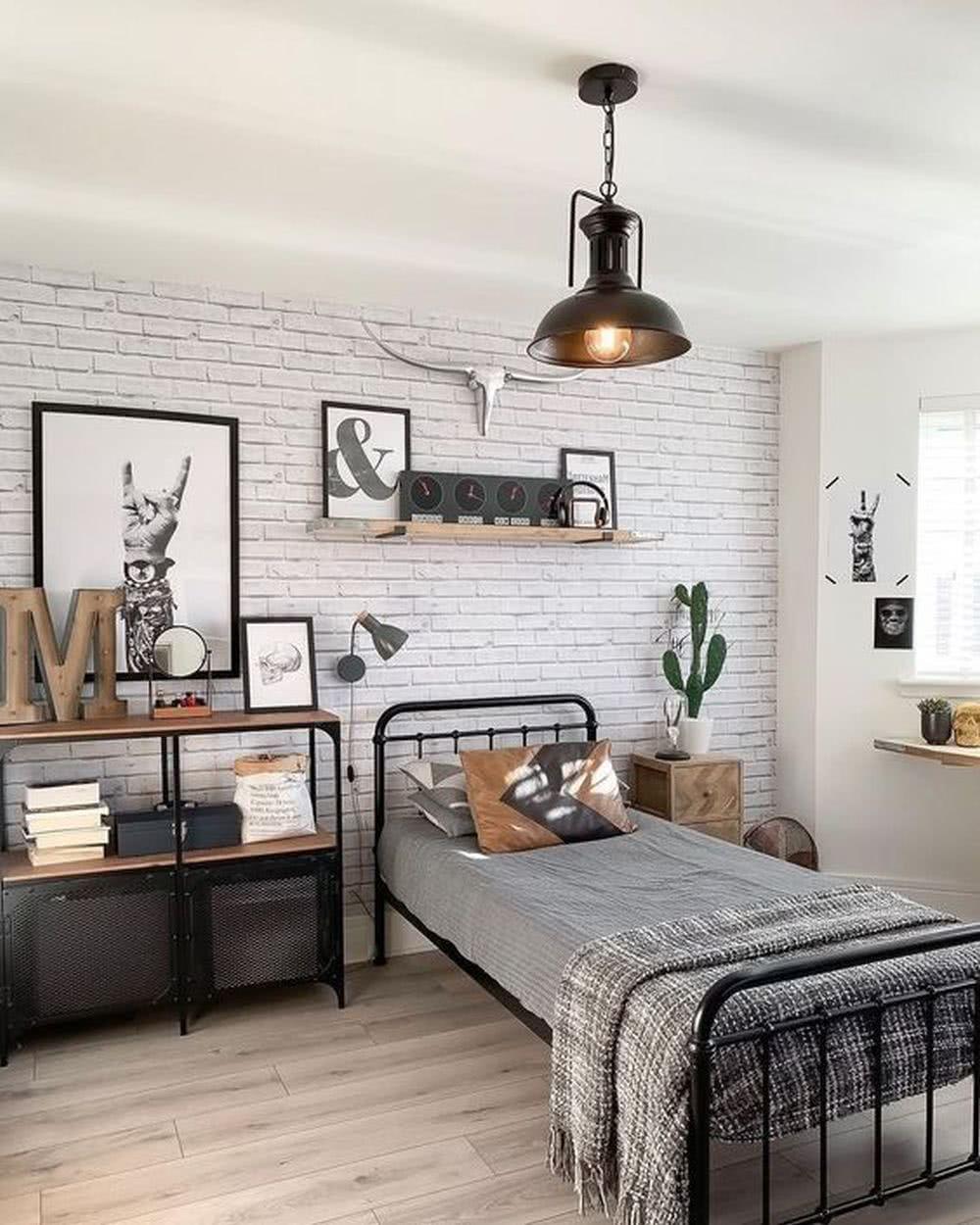 Sypialnia wstylu loft