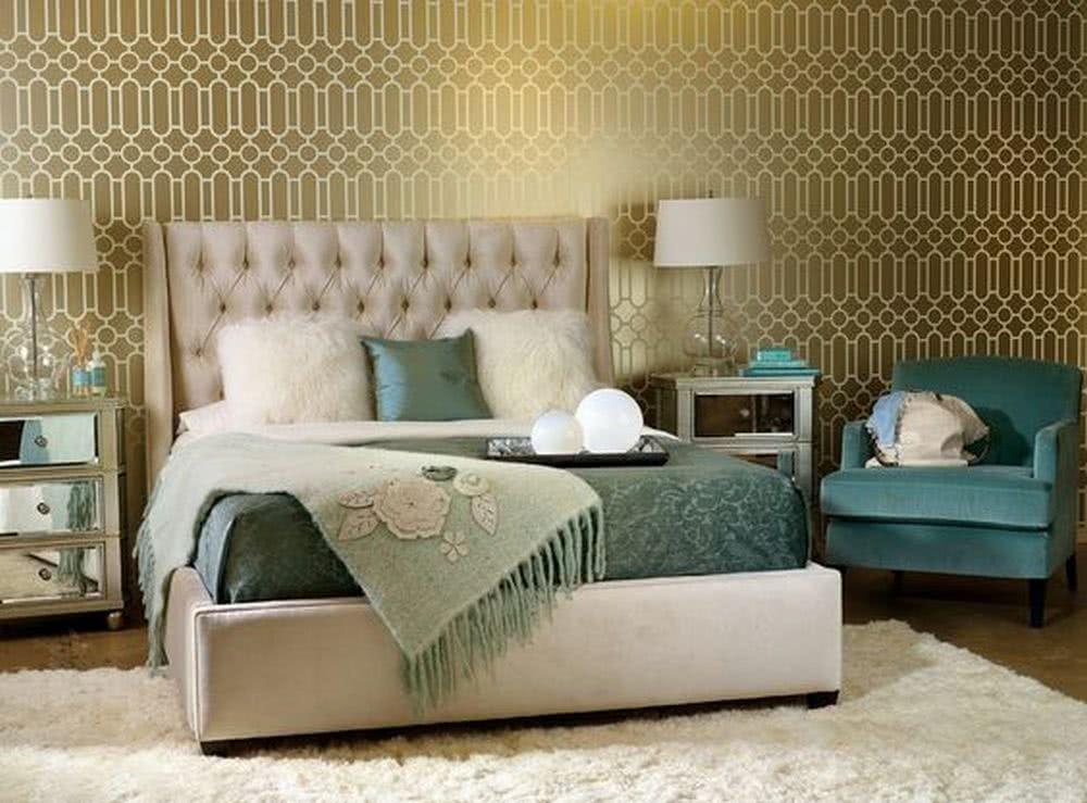 Sypialnia wstylu retro