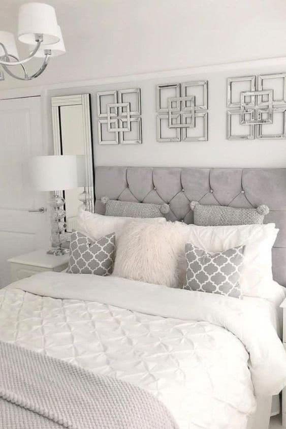 Poduszki dekoracyjne weleganckiej sypialni