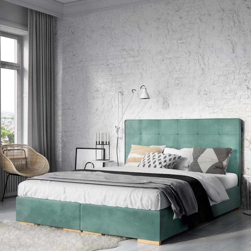 Łóżko kontynentalne wsypialni industrialnej