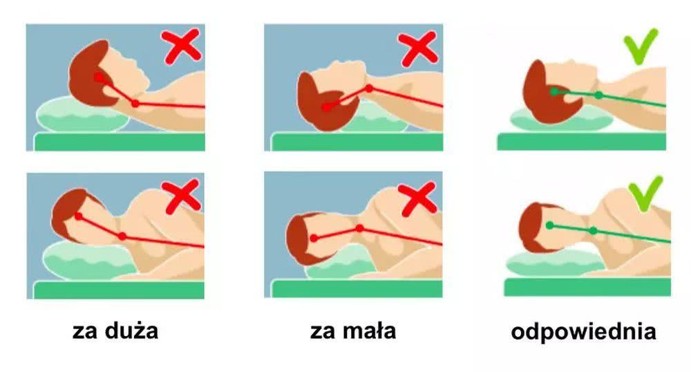 Wielkość poduszki ma znaczenie dlakomfortu snu