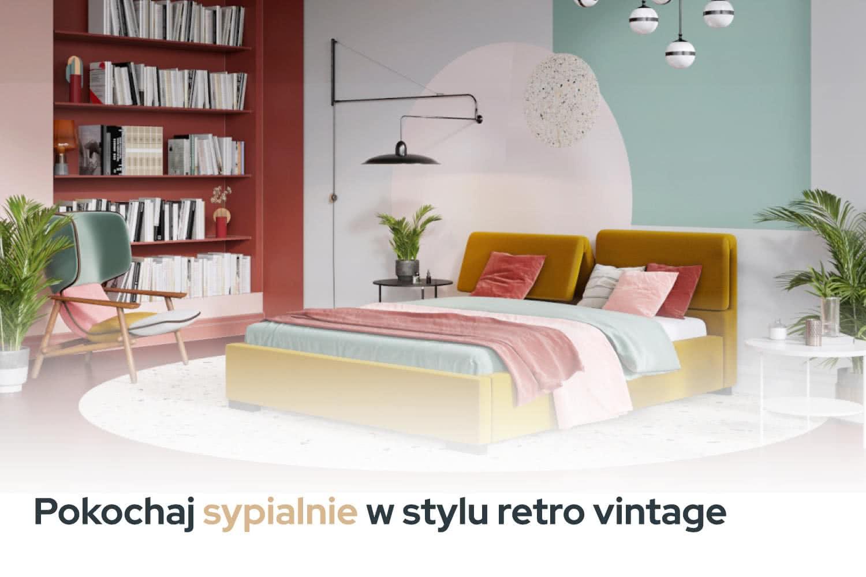 sypialnia retro vintage inspiracje