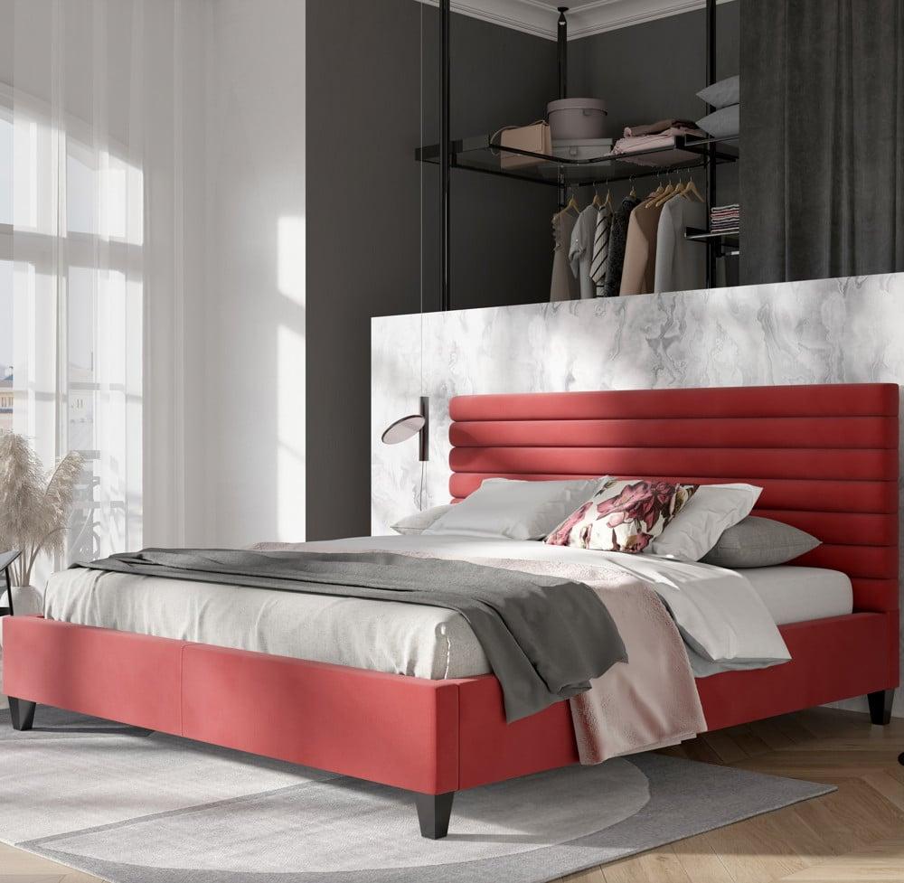 Sypialnia tapicerowana wstylu minimalistycznym