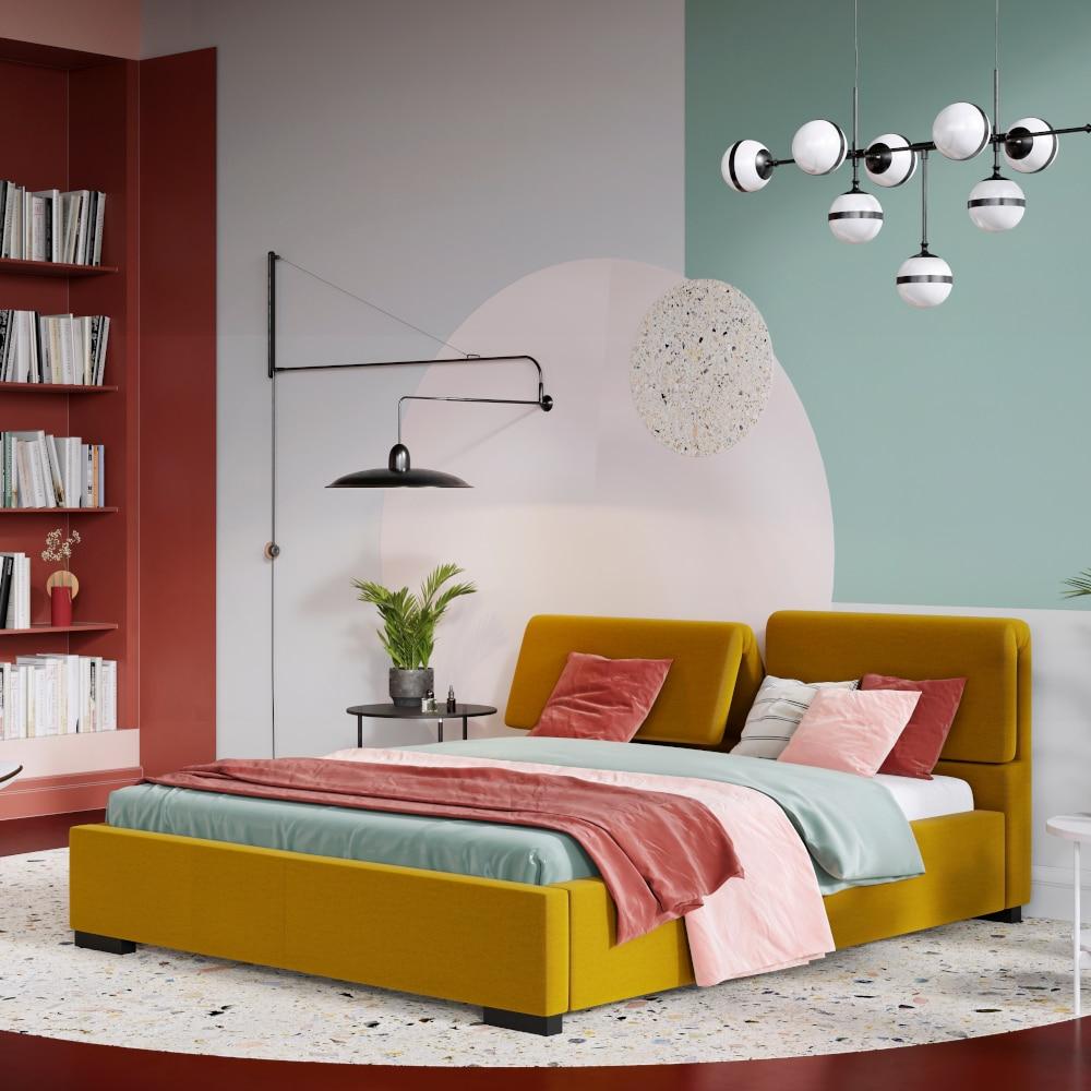 Sypialnia tapicerowana wstylu futurystycznym