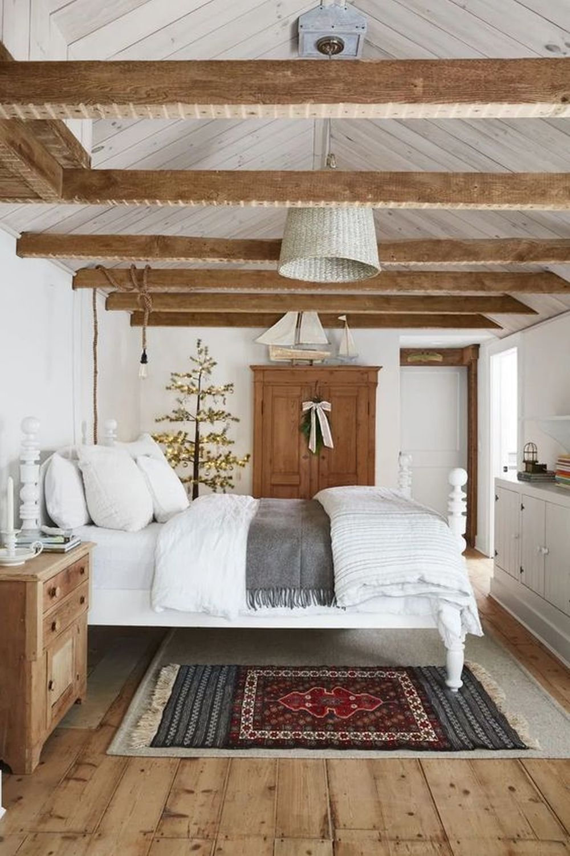 Rustykalna sypialnia