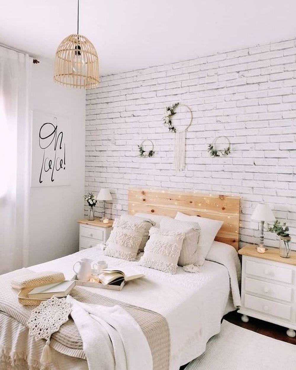 Rustykalna Sypialnia Białe Ściany
