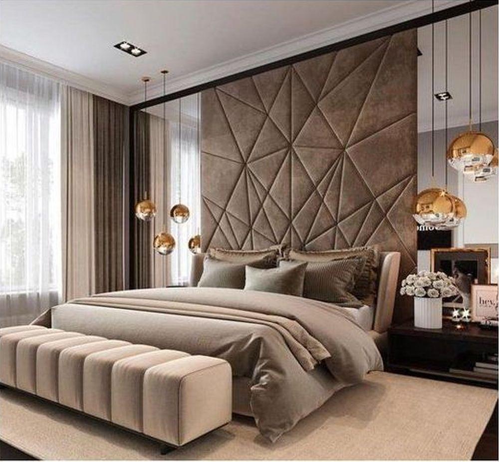 Sypialnia tapicerowana - panele ścienne