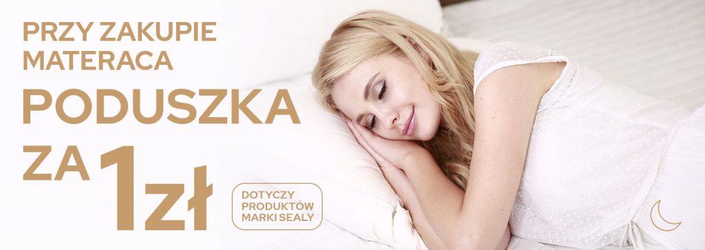 Promocja marki Sealy - materac i poduszka