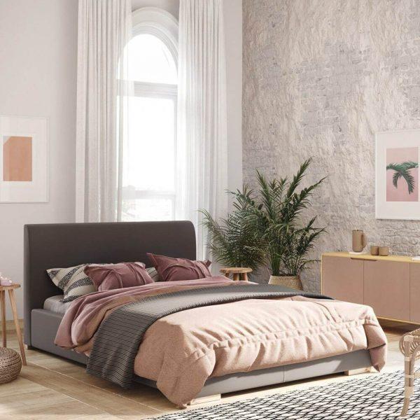 Łóżko tapicerowane Argo jasne Senpo
