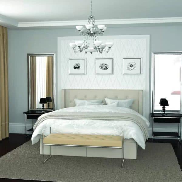 Łóżko Glamour Hilding kontynentalne
