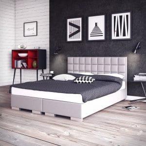 Łóżko Massimo Plus kontynentalne jasne