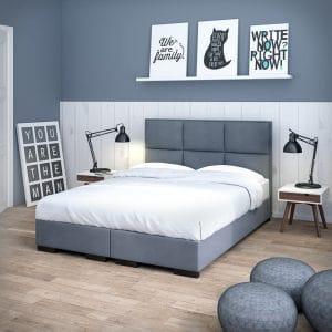 Łóżko tapicerowane Massimo Plus kontynentalne Senpo