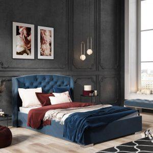 Łóżko tapicerowane Mystic Senpo niebieskie