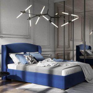 Łóżko tapicerowane Paris Senpo niebieskie