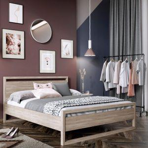 Łóżko drewniane Santiago Senpo jasne