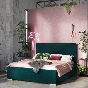 Łóżko tapicerowane Simple Senpo zielone