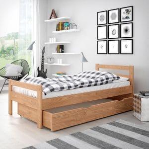 Łóżko drewniane Slim w aranżacji