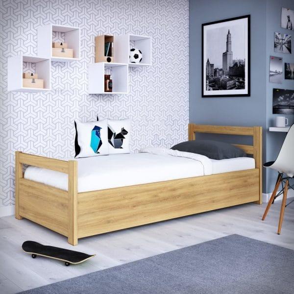 Łóżko drewniane Slim P dla dzieci i młodzieży