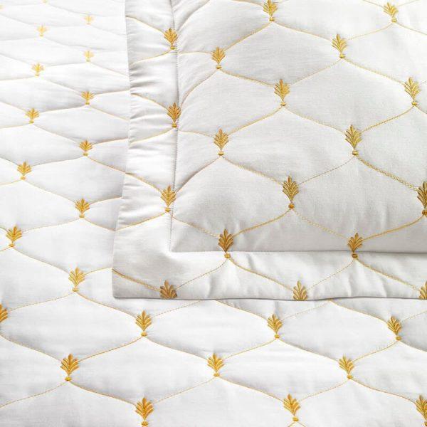 Narzuta na łóżko VERSAILLES Threnton złoty