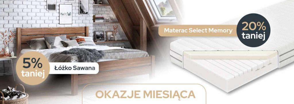 łóżko sawana, materac select memory, promocja