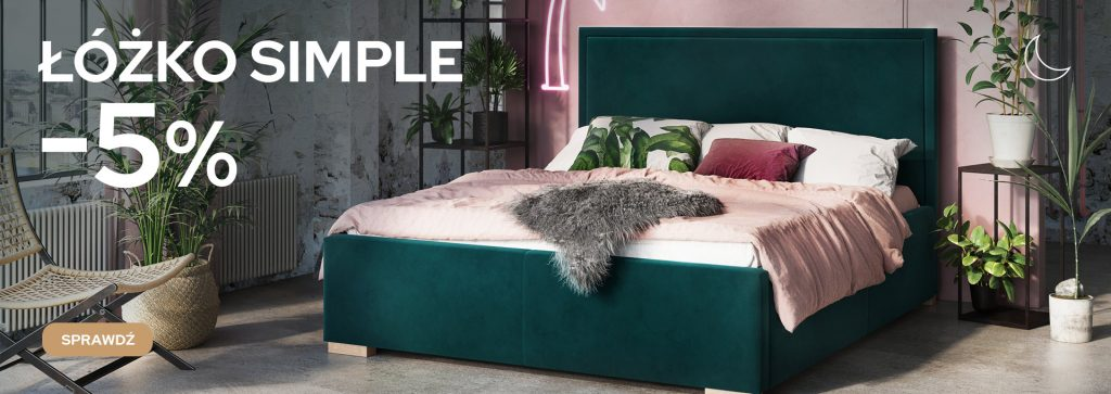 łóżko, simple, senpo