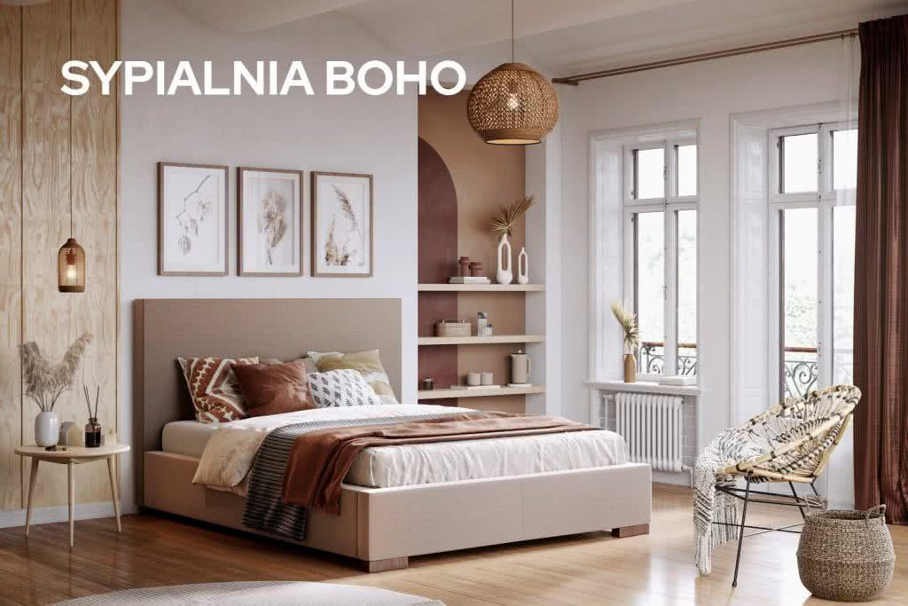 Sypialnia w stylu boho