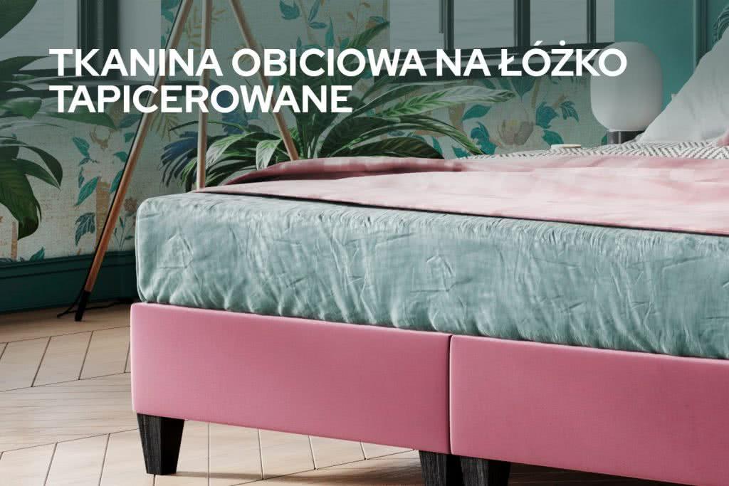 Tkanina obiciowa na łóżko tapicerowane