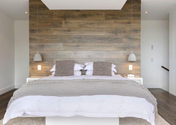 łóżko zzagłówkiem zdrewnianych palet