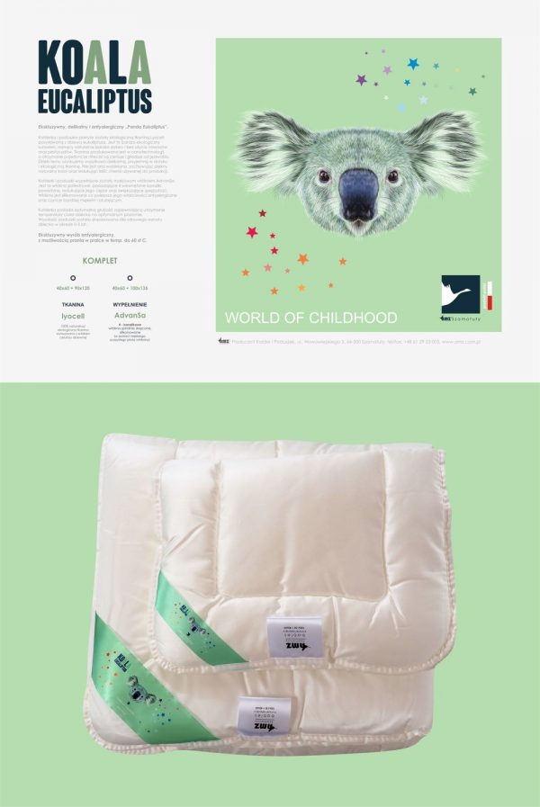 Pościel dziecięca AMZ Koala Eukaliptus