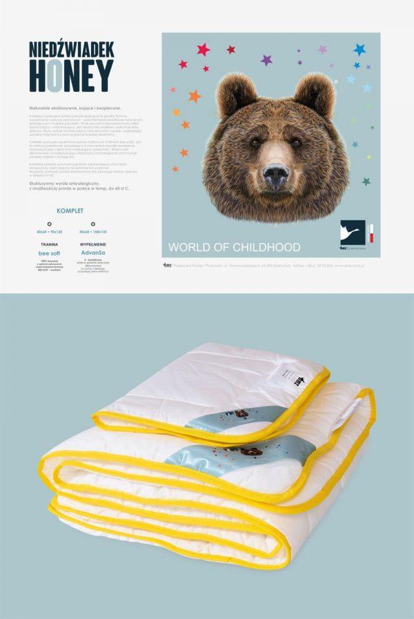 Pościel dziecięca AMZ Babies Niedźwiadek Honey