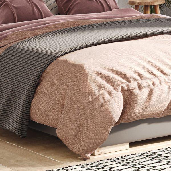Łóżko tapicerowane Argo kontynentalne Senpo zanóżek